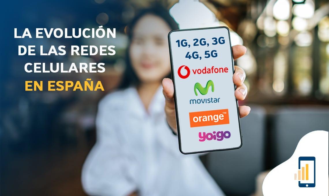 La evolución de las redes celulares en España