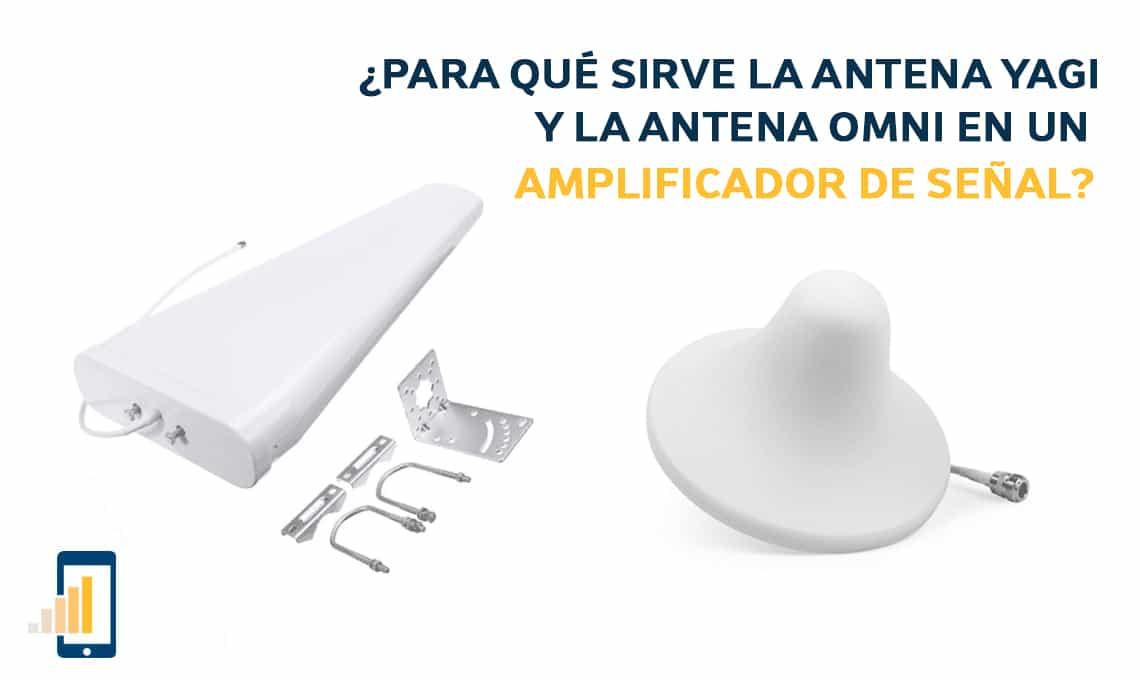 Para qué sirve la antena yagi y la antena omni en un amplificador de señal