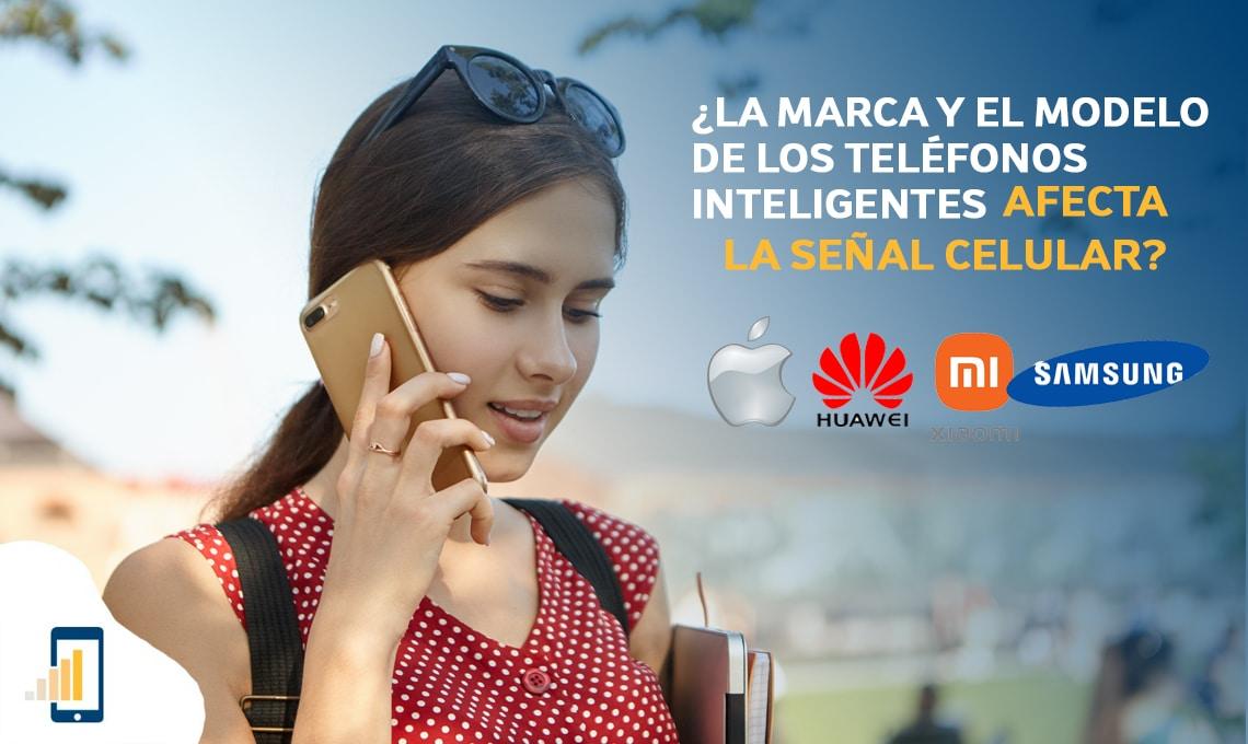La marca y el modelo de los teléfonos inteligentes afecta la señal celular